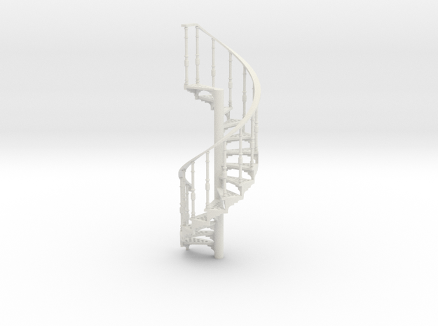 s-43-spiral-stairs-market-lh-1a in White Natural Versatile Plastic