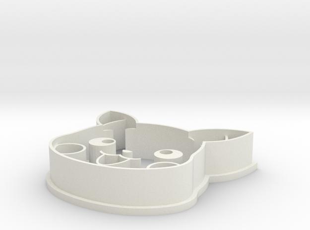 Pikachu Head Cookie Cutter in White Natural Versatile Plastic
