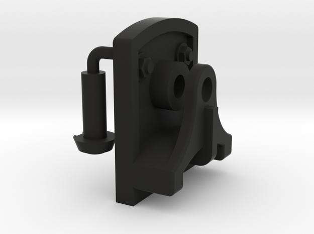 Signal Semaphore Lever Bracket w/ Bolts 1:19 scale in Black Natural Versatile Plastic