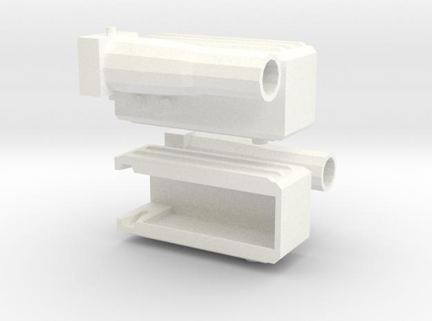 Fortress Maximus Waist Guns in White Processed Versatile Plastic