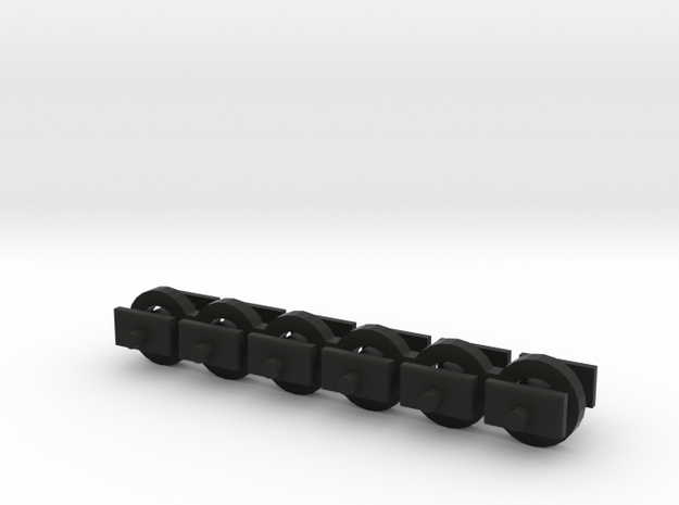 N Scale 4mm Fixed Coupling Drawbar x6 in Black Natural Versatile Plastic