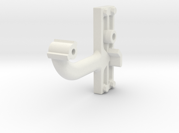 Signal Semaphore Arm (Short) w/bolts 1:19 scale in White Natural Versatile Plastic