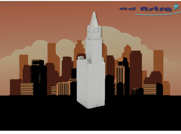 Woolworth Building - New York (1:4000) in White Natural Versatile Plastic