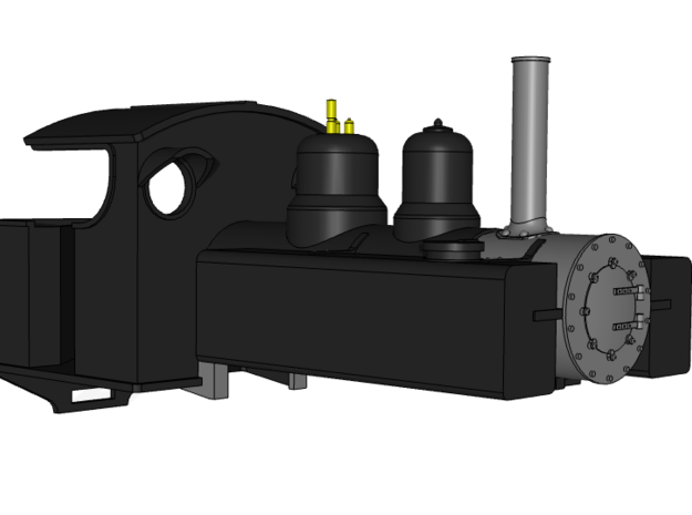 Baldwin 4-6-0 7mm Body