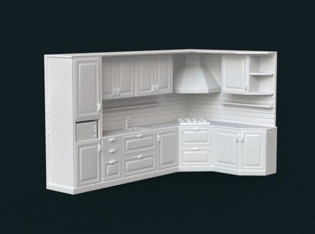 1:39 Scale Model - Kitchen Set 02 in White Strong & Flexible