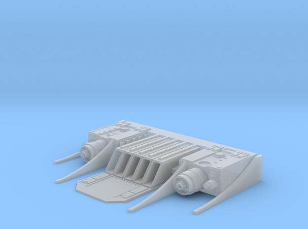 Aft Launcher in 1-350th for Andrew C in Smooth Fine Detail Plastic