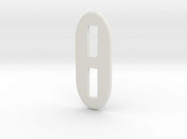 Milano Tape Deck Greeblie in White Natural Versatile Plastic