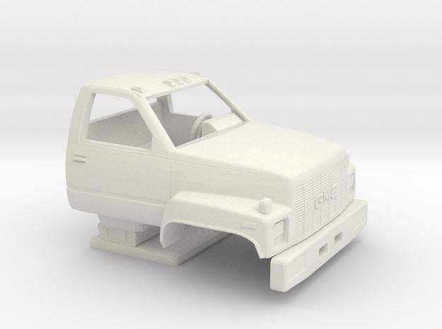 1/64 1990-94 GMC TopKick Cab in White Natural Versatile Plastic
