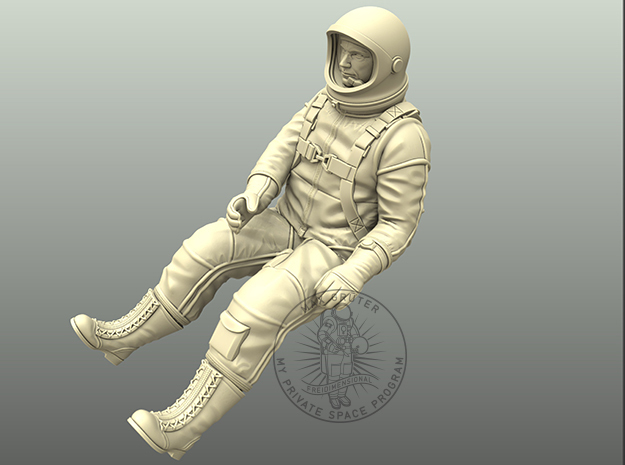 X-15-Pilot 1:18 / 1:24 / 1:48 in White Natural Versatile Plastic: 1:18