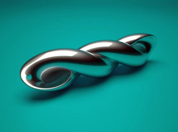 mathematical embrace  3d printed rendering silver
