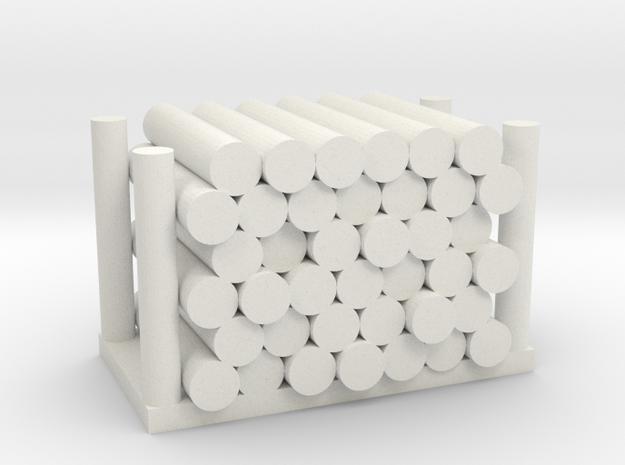 Holzstapel 39er Versatile Platsic (WSF) - 1:120 in White Natural Versatile Plastic