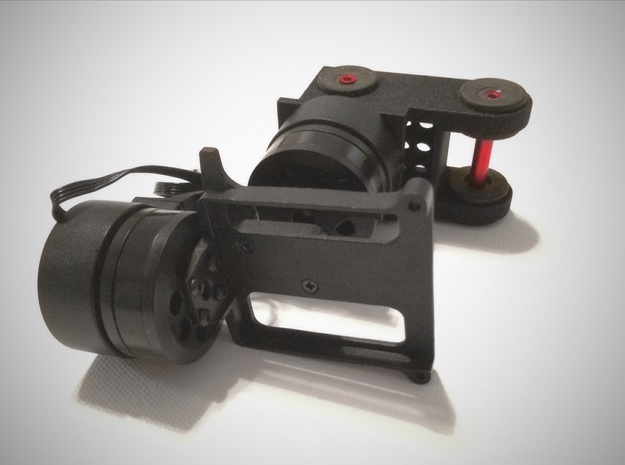 TBS Discovery Gimbal Mount 3d printed Mount attached to FeiYu Tech G3 Gimbal