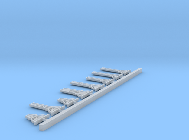 7mm Basic Set - NSWR Small Station Signs in Smooth Fine Detail Plastic