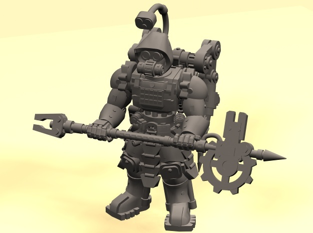 28mm Tech Cult engineer (onepiece version) in Smooth Fine Detail Plastic