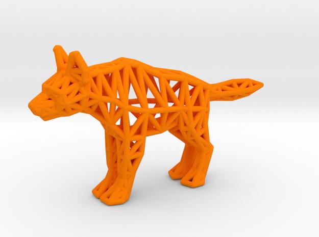 Striped Hyena (adult) in Orange Processed Versatile Plastic