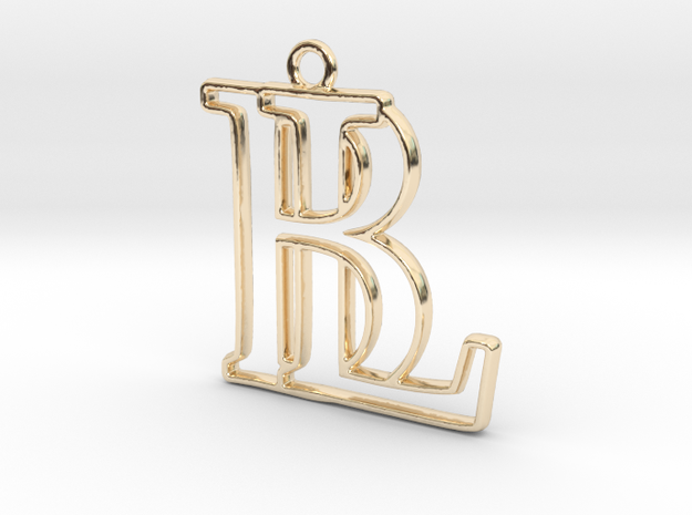 Monogram with initials B&L in 14k Gold Plated Brass