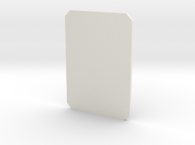SPD Containment Card in White Natural Versatile Plastic