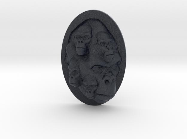 Gorilla Multi-Faced Caricature (006) in Black Professional Plastic