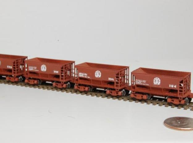 Z 70 ton ore jenny, Six Pack, no couplers in Smooth Fine Detail Plastic