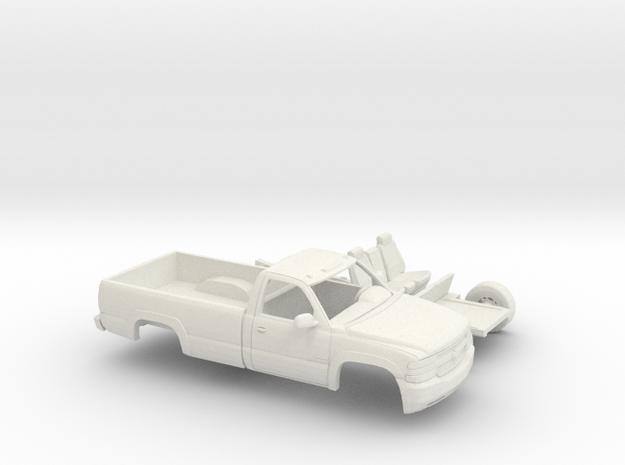 1/64 1999-02 ChevySilverado RegCab Long Bed Kit in White Natural Versatile Plastic