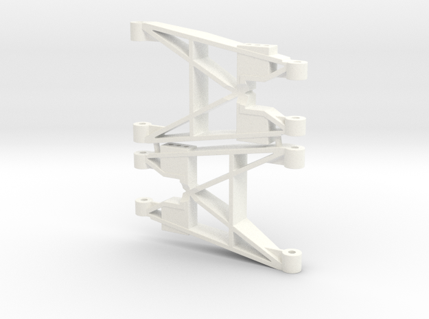 91 STEALTH REAR ARMS, PAIR in White Processed Versatile Plastic