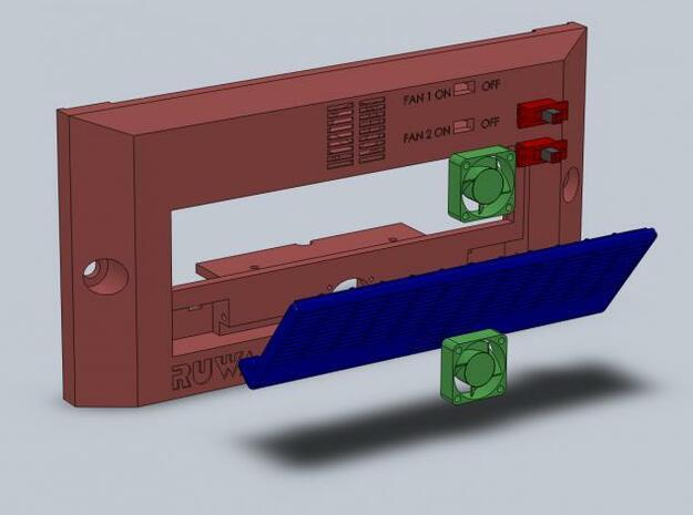 DSX Incubator Frontplate V2 3d printed