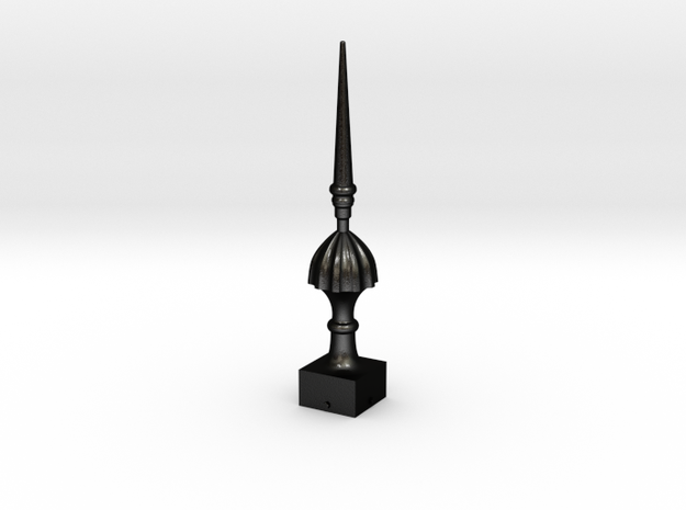 Signal Finial (Victorian Spike) 1:6 scale in Matte Black Steel