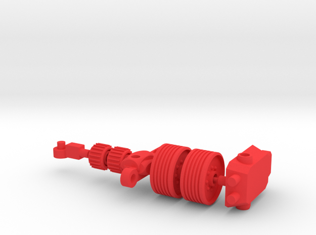 Rot Hodder Red Parts in Red Processed Versatile Plastic