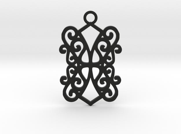 Ealda pendant in Black Natural Versatile Plastic: Medium