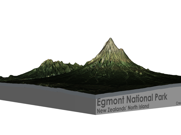 Egmont National Park Map in Full Color Sandstone
