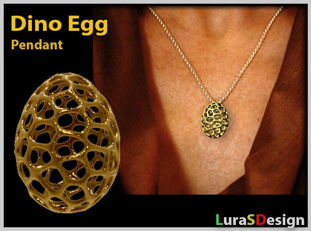 Dino Egg Pendant in Stainless Steel