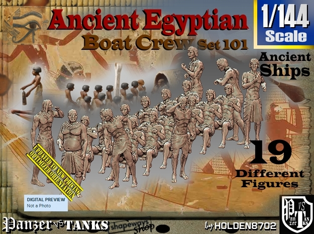 1/144 Ancient Egyptian Boat Crew Set101