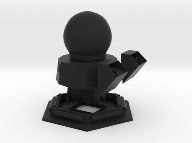1/96 scale Bergamini Main Mast with Radar in Black Natural Versatile Plastic