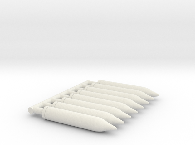 8 X 1/32 5 inch rocket for USN PT Boat rocket laun in White Natural Versatile Plastic