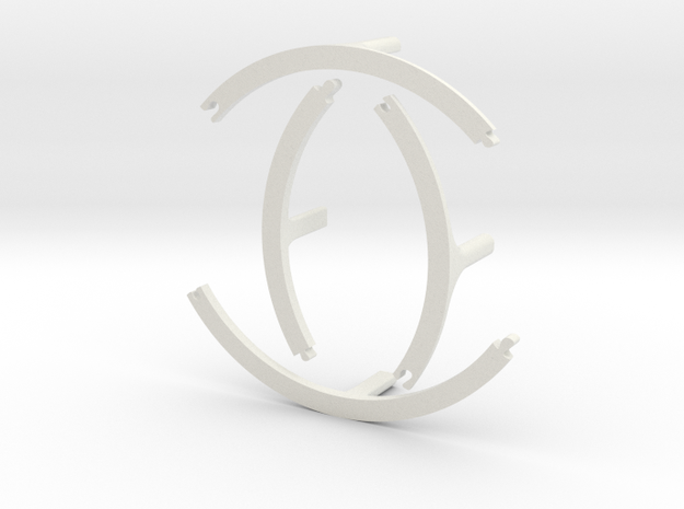 Second Level for Cake Stand in White Natural Versatile Plastic