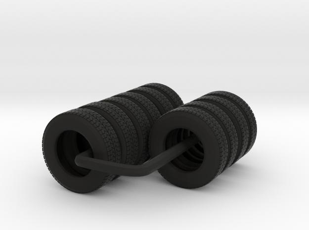 "22.5"" Tandem axle frame tire group in Black Natural Versatile Plastic"