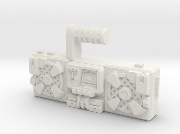 Titans Return Blaster, TF Compatible (3mm, 5mm) in White Natural Versatile Plastic: Medium