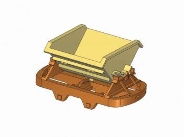 IJ's Nn3 'V' Tipper Wagon (5 off) 3d printed 3D Model Image Showing a Single 'V' Tipper