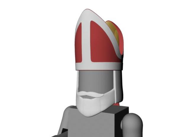 Saint's or Bishop's head for Minimates in Smooth Fine Detail Plastic