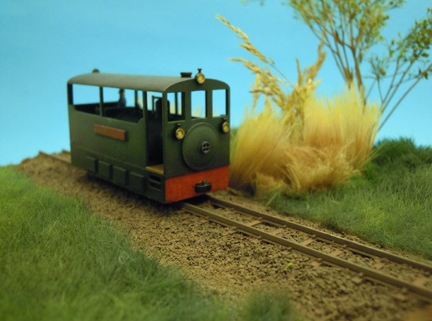 Freelance H0e tramway model loco in Frosted Ultra Detail