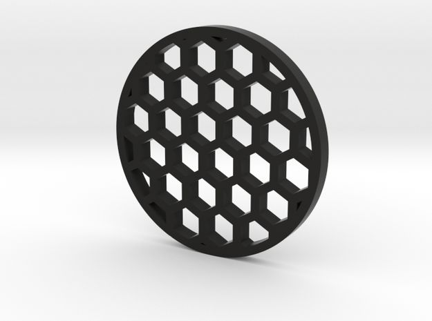 38mm honeycomb in Black Natural Versatile Plastic