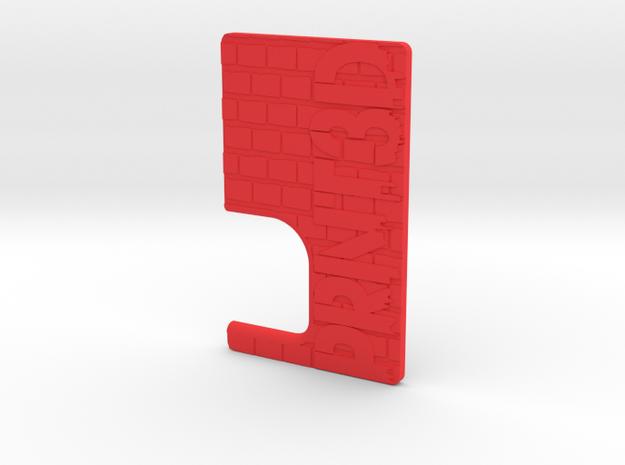 BRCK3D Mech Squonk Door in Red Processed Versatile Plastic