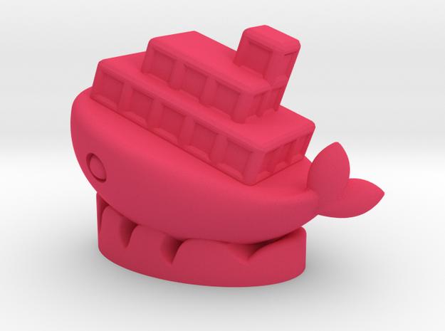 Container in Pink Processed Versatile Plastic