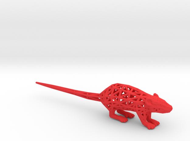 Rat in Red Processed Versatile Plastic