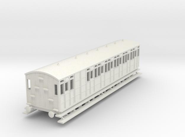 o-87-metropolitan-8w-long-brake-coach in White Natural Versatile Plastic