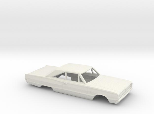1/25 1968 Dodge Coronet Coupe Body in White Natural Versatile Plastic
