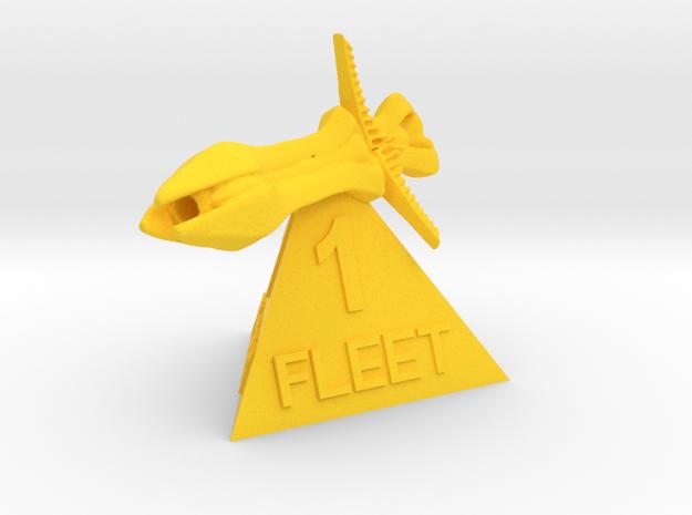Species 8472 - Fleet 1 in Yellow Processed Versatile Plastic