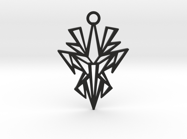 Dark symmetry pendant in Black Natural Versatile Plastic: Medium