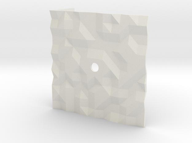 Texture clock in White Natural Versatile Plastic