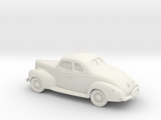1/87 1940 Ford Eight Coupe in White Natural Versatile Plastic